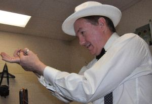 Magician Paul Spenard Entertains Guests
