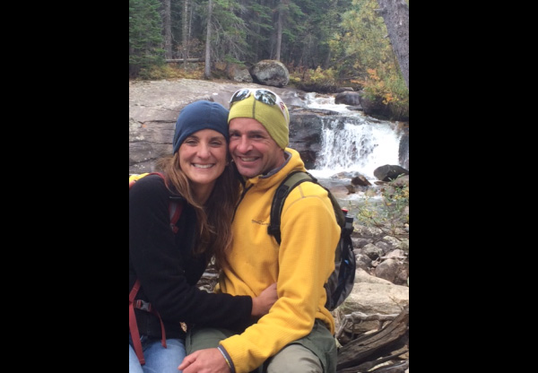 Pastor Mark and wife, Deone at Ouzel Falls in RMNP.