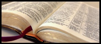 Banner image of an open Bible.