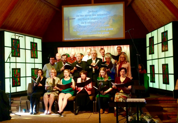Photo of Easter Sunday service.