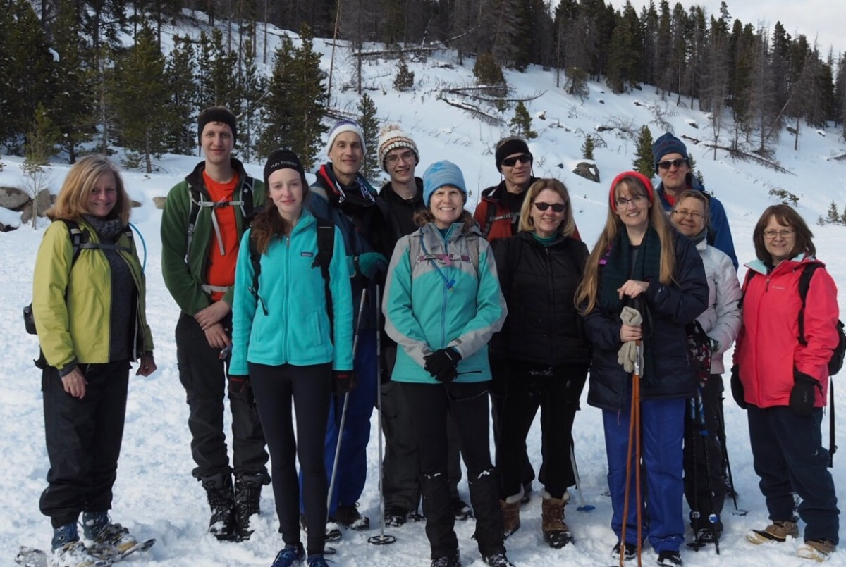Photo of Crestview group Snowshoeing in RMNP.