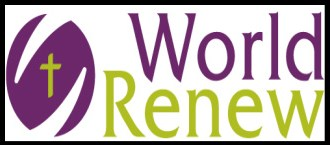 Banner with the World Renew logo.