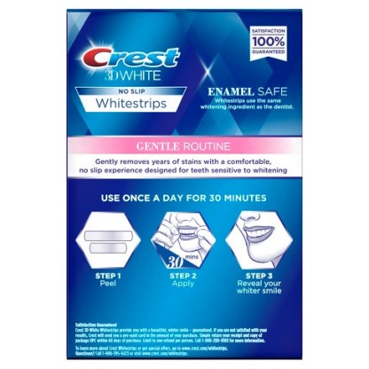 Crest 3D White Whitestrips Gentle Routine.