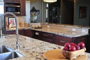 Custom Kitchen with Paper Towel Storage