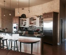 Custom Kitchen with mixed finishes
