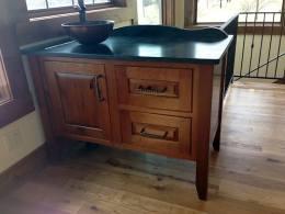 Custom Vanity with Vessel Sink