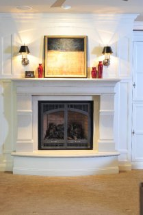 Custom Fireplace with large corbels