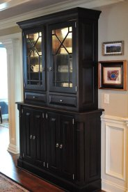 Custom China Hutch with Custom Mullions