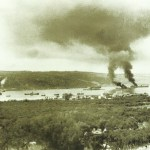 British ships burn in Souda Bay