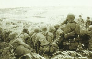 German paratroopers on the captured Hill 107