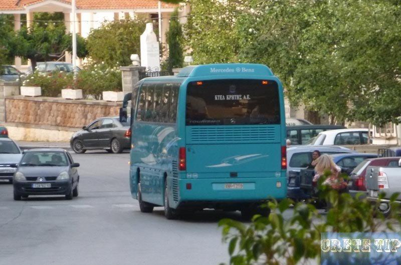 bus in Crete