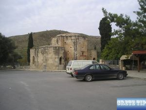 car park at the Titos church of Gortys