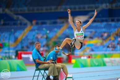 Marie-Amélie Lefur en saut en longueur