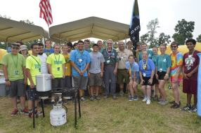 F902 with Wayne Brock and Tico Perez at the 2013 National Scout Jamboree.