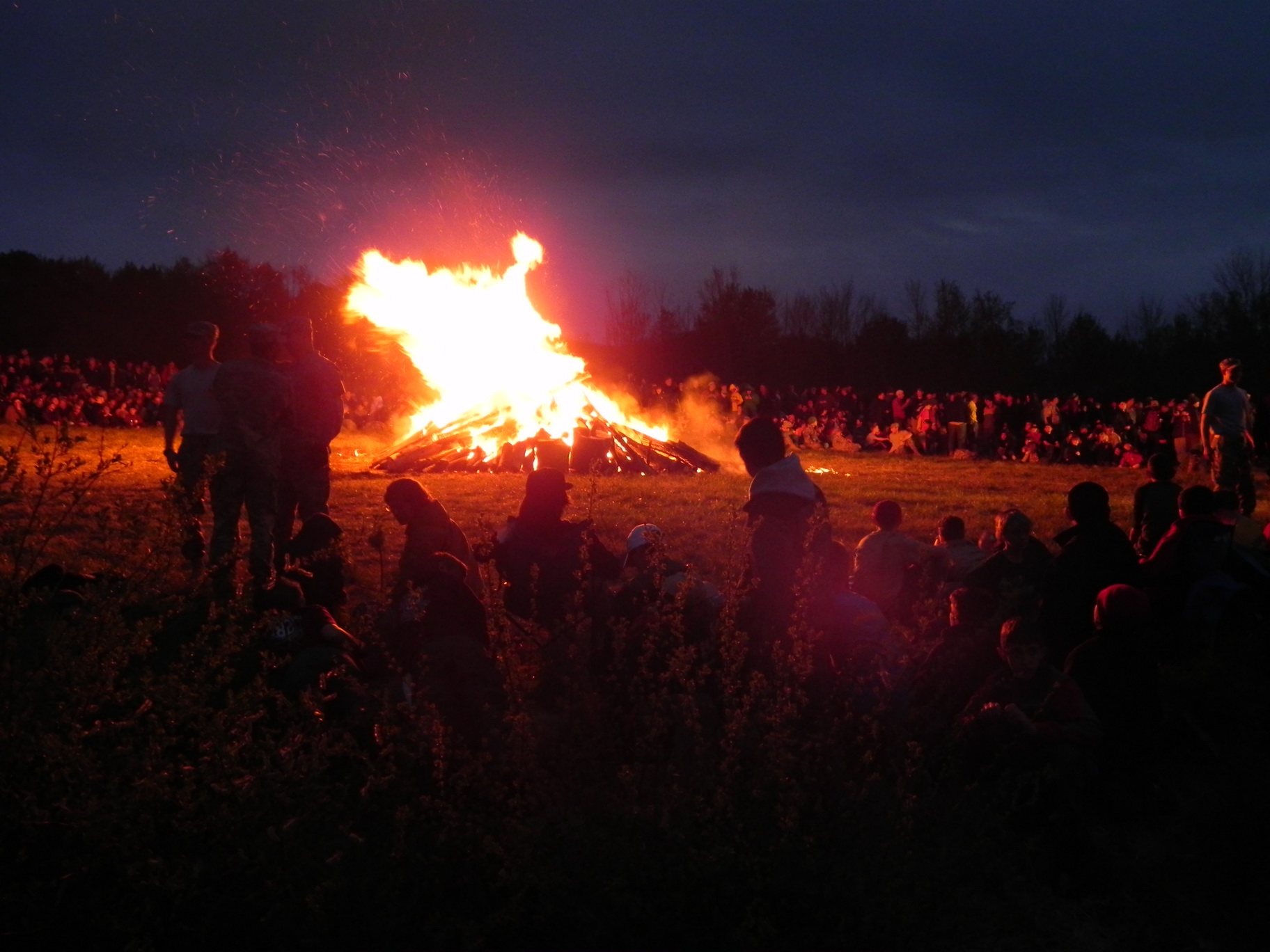 17 the Campfire lit