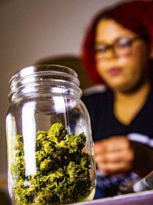 cannabis buds in jar lexscope