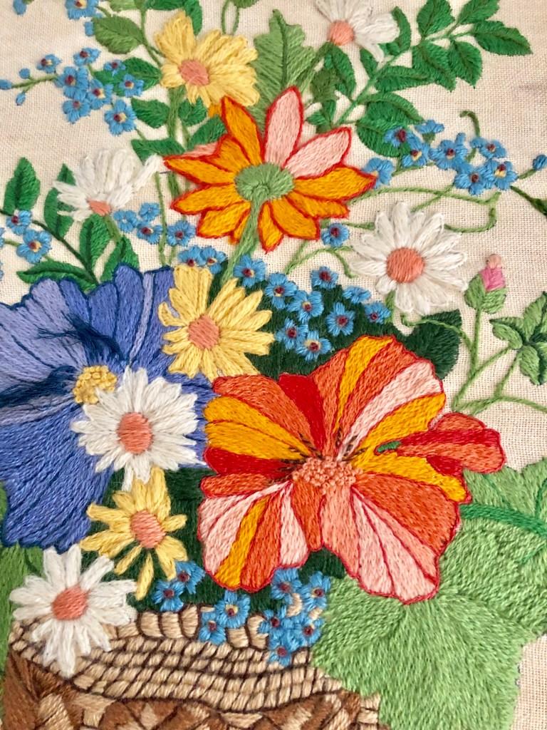 crewel work or crewel embroidery