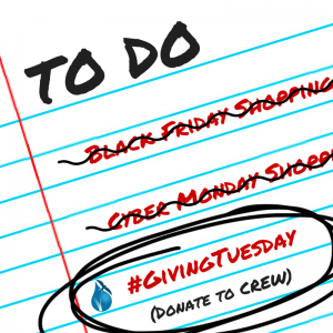 shopping checklist #giving tuesday