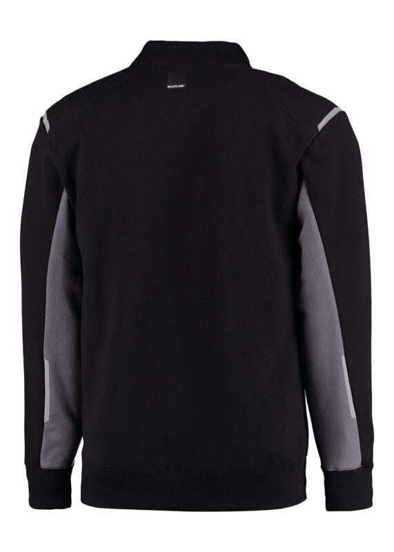 Polosweater zwart met grijs lange mouwen