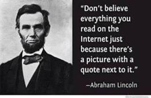 No creas todo lo que dice internet