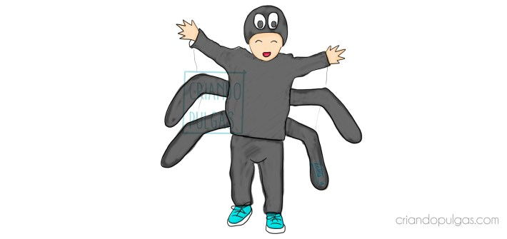 disfraz araña DIY
