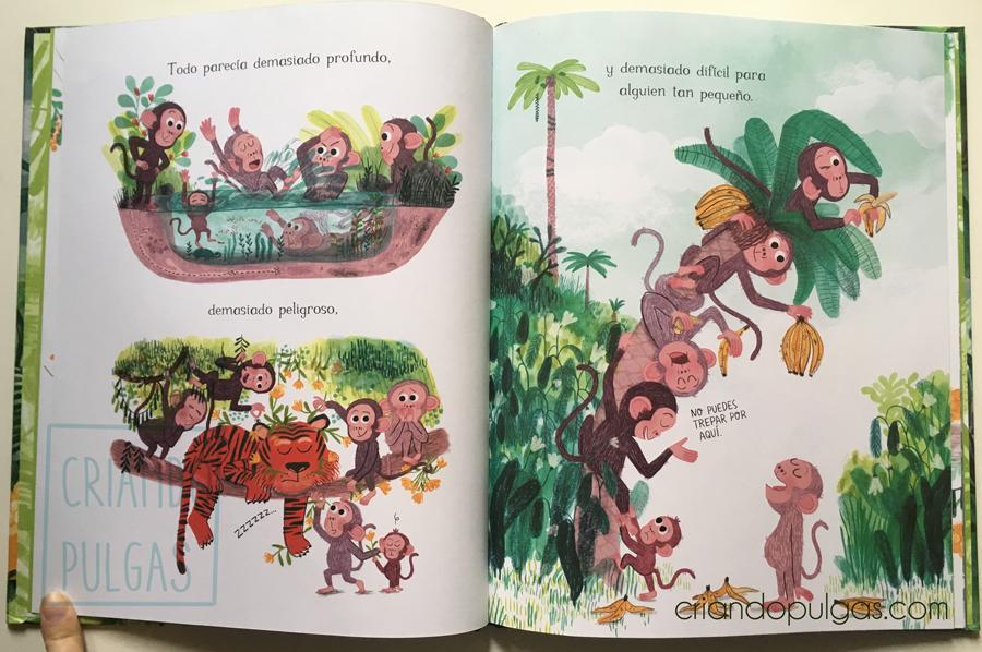 Pequeña en la jungla - diseño de personaje - páginas 12 y 13