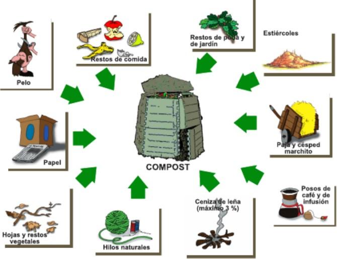 Grafico de que poner en el compost