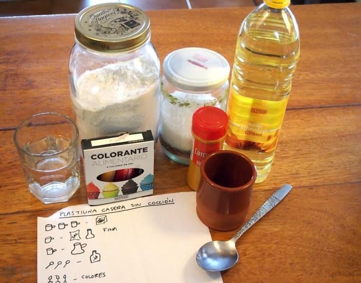 Ingredientes harina, aceite, sal, especias...