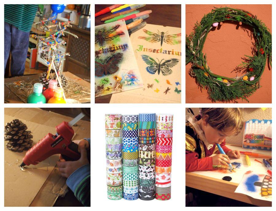 Collage con fotos de actividades de arte
