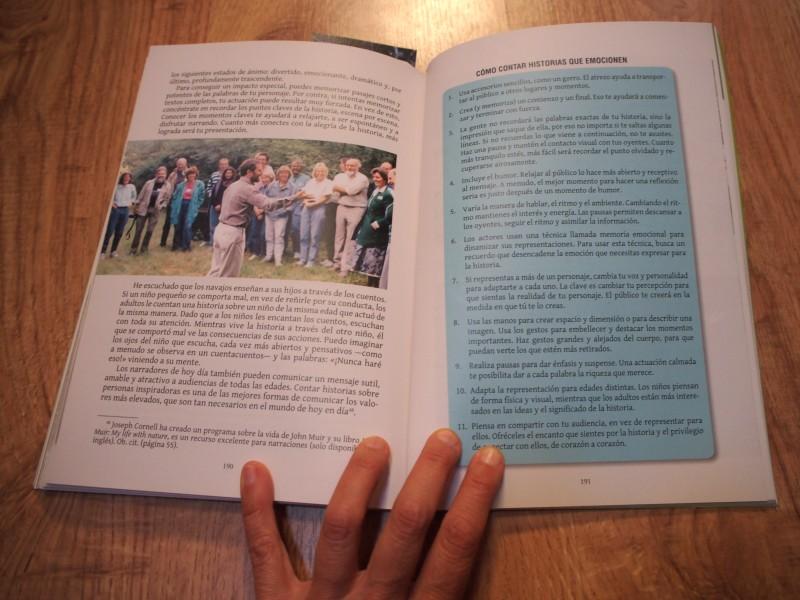 """Pagina del libro """"compartir la naturaleza"""" de Cornell"""