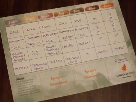 Foto del calendario/planificador semanal