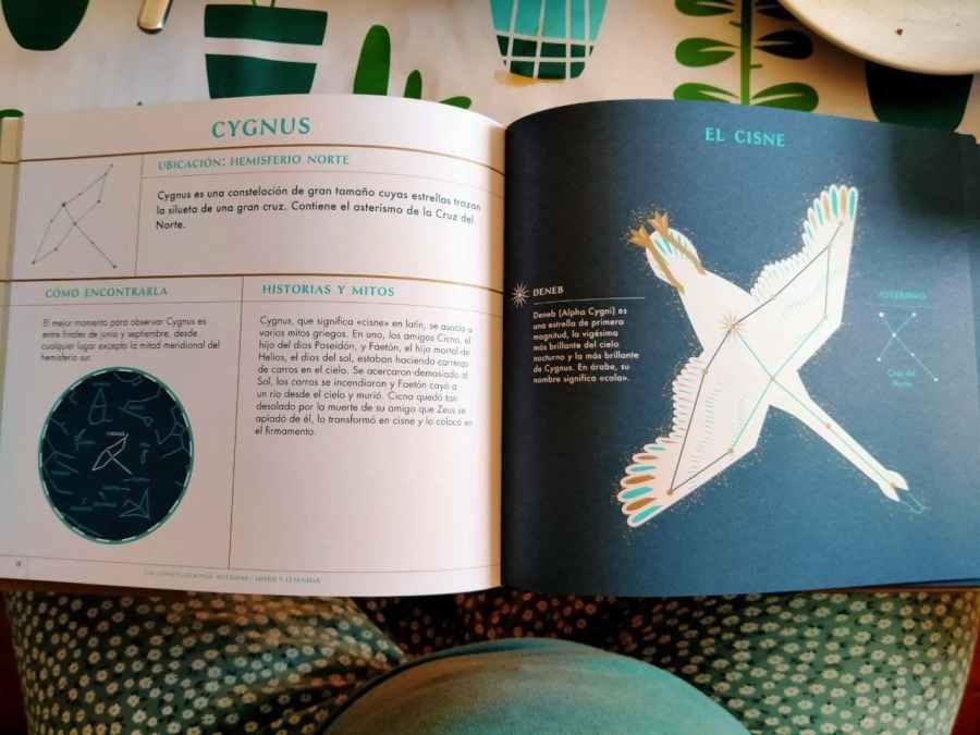 """Foto del interior del libro """"Observar las estrellas."""" de Sarah Guillingham"""