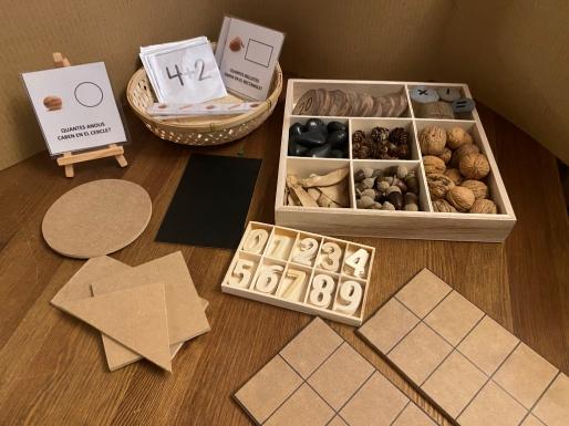 Materailes de madera para lectoescritra y numeros