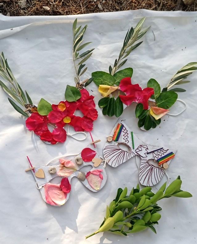 Mascaras de coradas lpara la luna de las flores