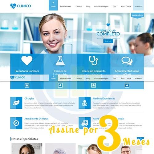 Criação de Site Médico - Assinatura Trimestral