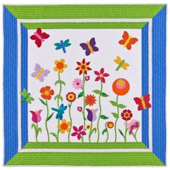 Butterfly Garden Quilt free pattern
