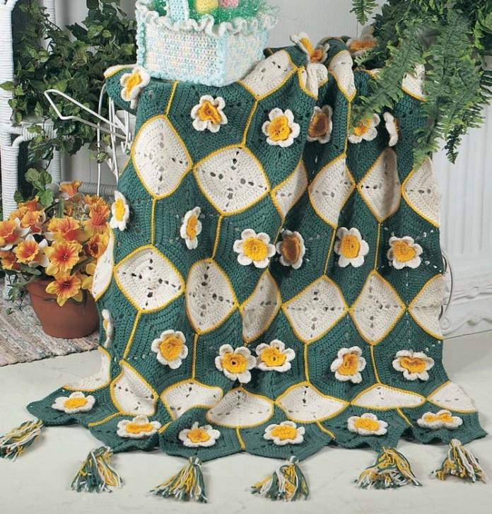 Daffodil Afghan Crochet Pattern