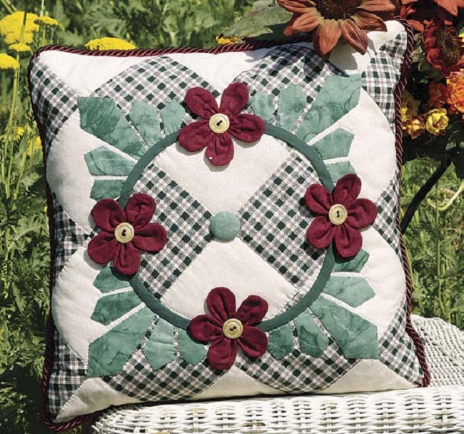 Petals Leaves Pillow or All Aflutter Pattern Free