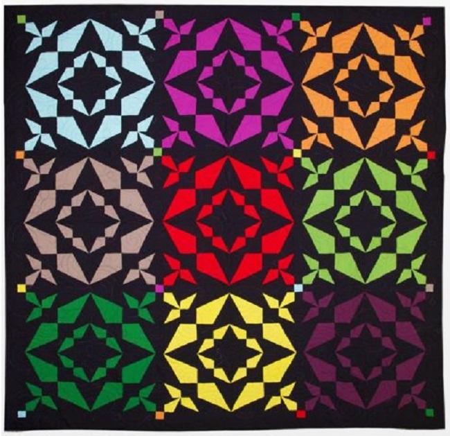 Qube Krazy Kites Throw Quilt Pattern accuquilt.com