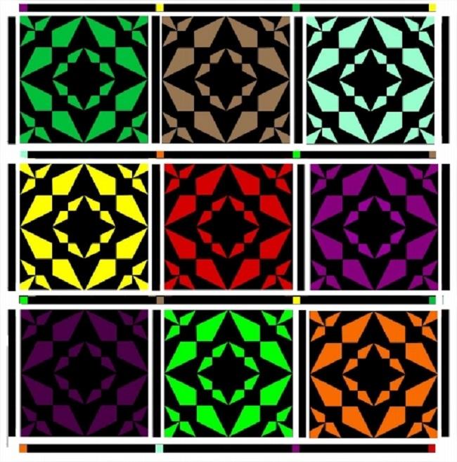 Qube Krazy Kites Throw Quilt Pattern