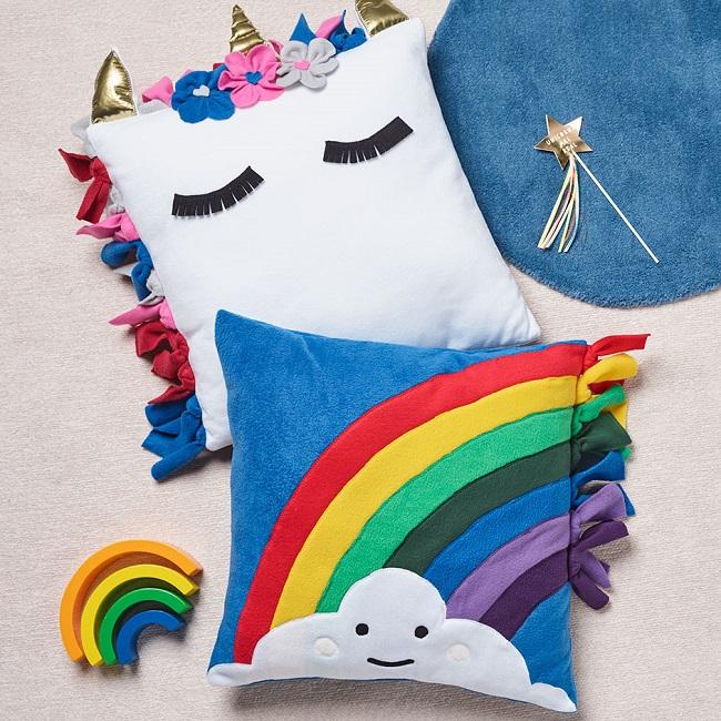 Rainbow end Unicorn Cushions