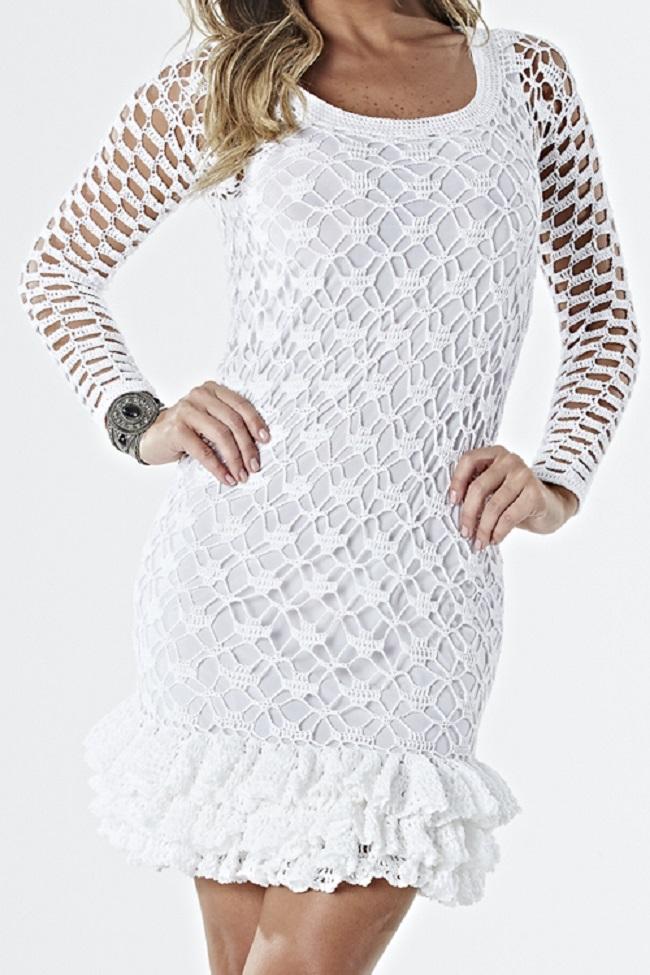 Dress Crochet White