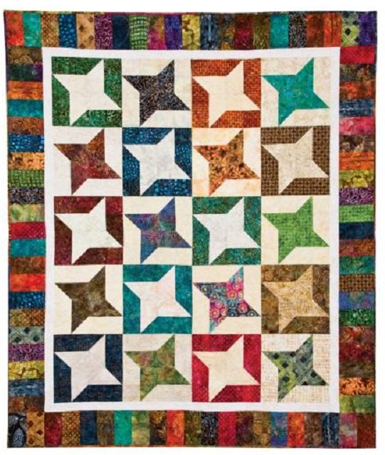 Twirling Stars Quilt Pattern