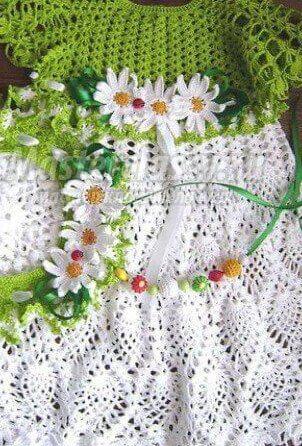 Crochet children dress