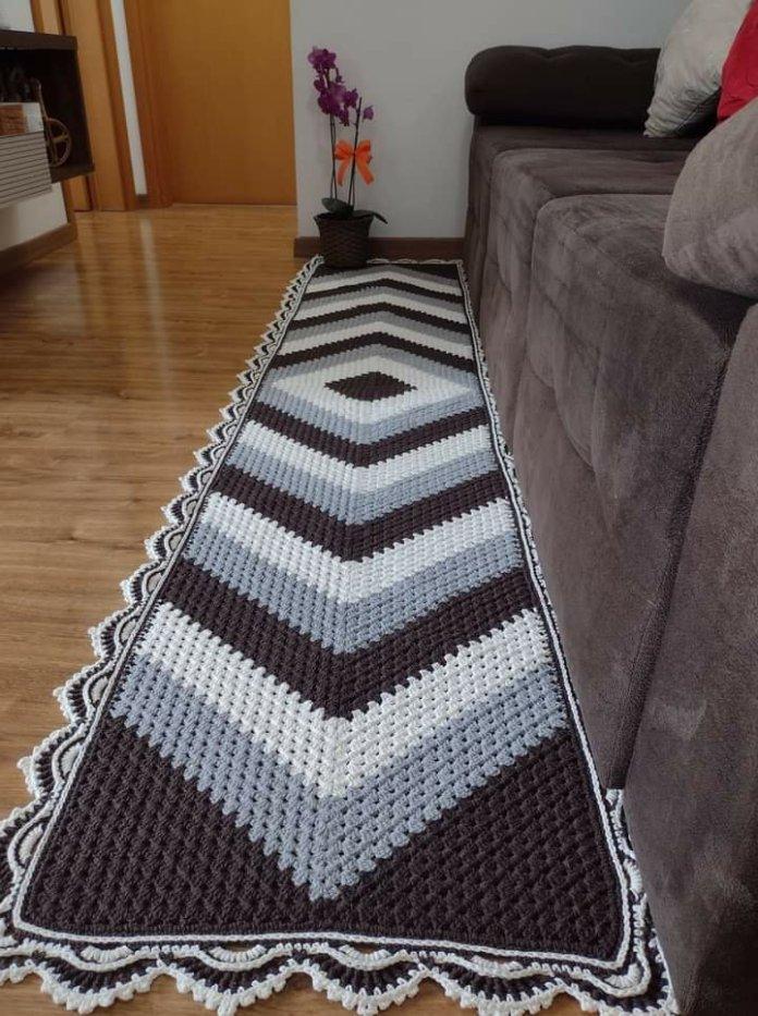 Crochet Granny Square Runner Rug