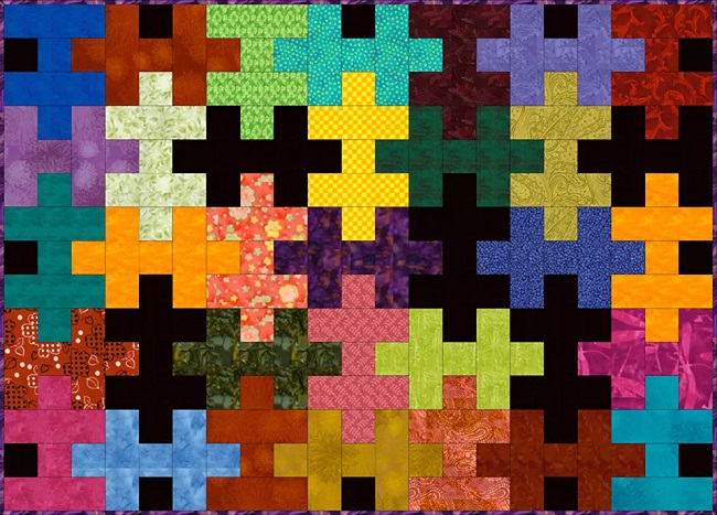 Easy Puzzle Quilt Free Pattern