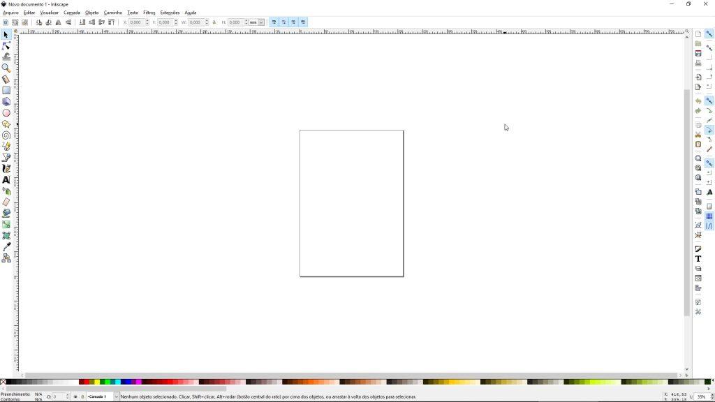 Imagem da área de trabalho do InkScape