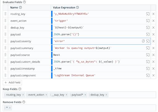 PagerDuty API integration with LogStream Webhooks
