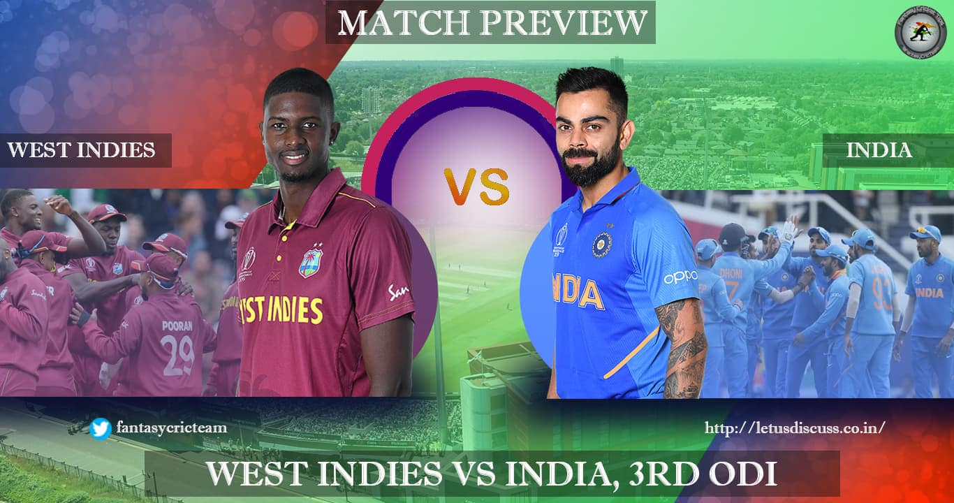 West Indies v India 3rd ODI Preview Dream11 - CricBlog