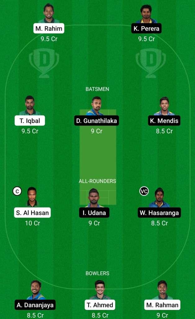 BAN vs SL 1st ODI Dream11 Prediction Possible Playing 11 Pitch Report   BAN vs SL 1st ODI Dream11 Prediction Today   Bangladesh vs Sri Lanka 1st ODI Key Players   Mirpur Dhaka Pitch Report